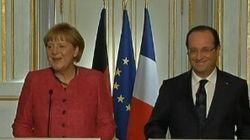 VIDÉO. Le lapsus d'Angela Merkel: elle confond François Hollande avec François