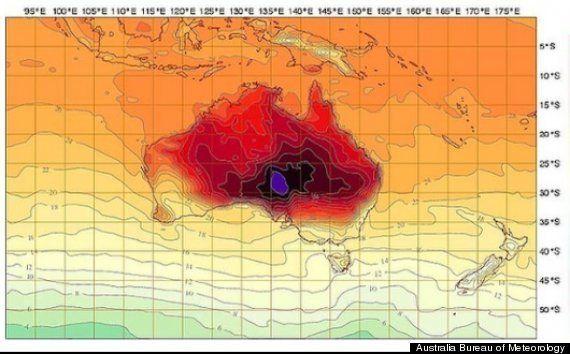 Chaleur: la météo australienne contrainte d'inventer une nouvelle couleur pour ses