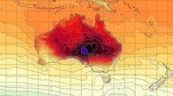 Avec la canicule, la météo australienne invente une nouvelle couleur pour ses