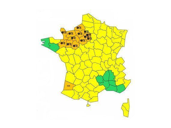 Neige/verglas: alerte orange dans 16 départements de l'ouest et la région