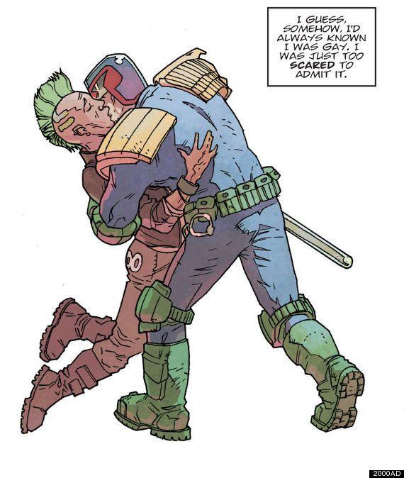 PHOTOS. Judge Dredd fait son coming out gay dans le prochain numéro du