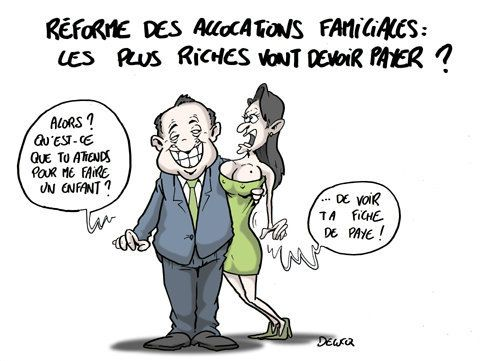 Allocations familiales: Une riche