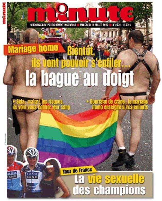 Couverture homophobe: SOS homophobie assigne l'hebdomadaire Minute en
