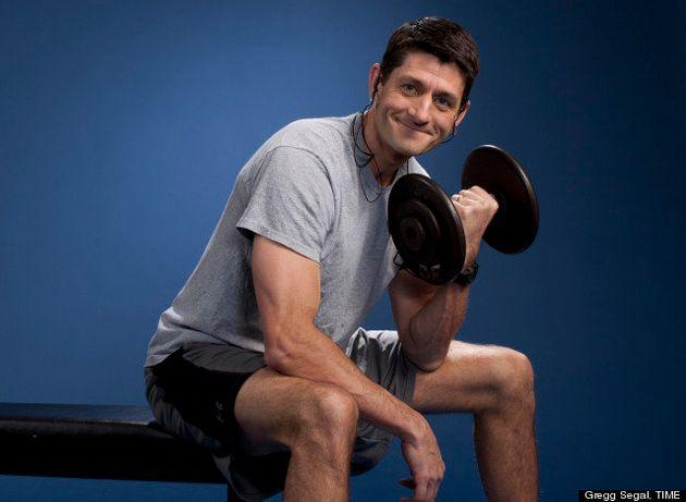PHOTOS. Paul Ryan prend la pose en train de faire de la musculation pour Time