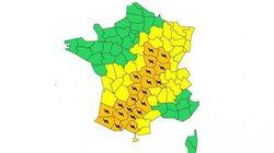 Orages : 21 départements placés en alerte
