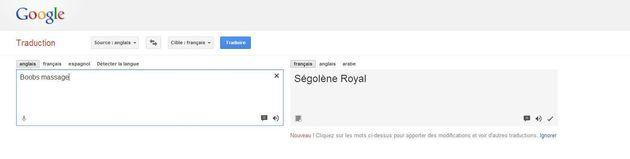 Ségolène Royal victime d'un problème de traduction sur Google