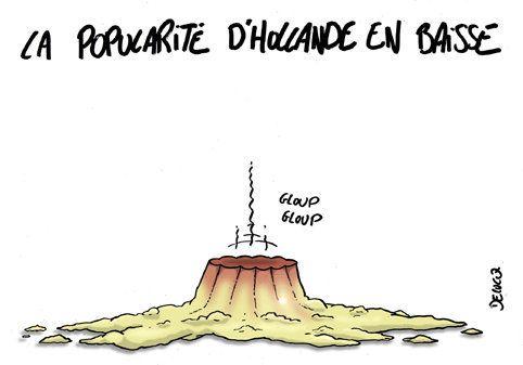 Popularité: Hollande en chute libre dans deux