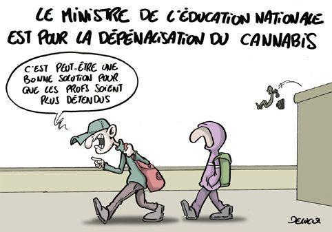 Cannabis: la boulette du ministre de l'Education