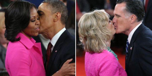 Pour le deuxième débat, Michelle Obama et Ann Romney étaient toutes les deux habillée en