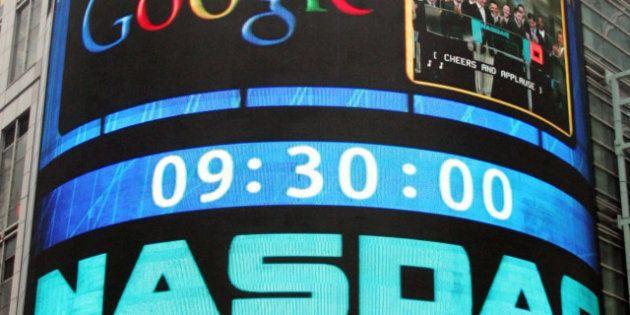 Bourse: Google suspendu du Nasdaq à cause d'une chute de 20% de son