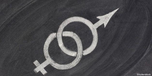 interlaced gender symbols...
