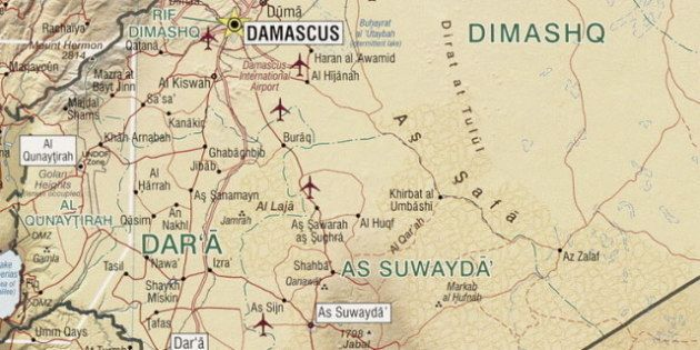 Description Map of the Jabal al-Druze and Quneitra Gouvernate in southern Syria. | Source File:Syria...
