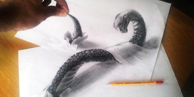PHOTOS. Les impressionnants dessins en 3D de Ramon