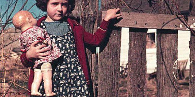 Des photos d'enfants des années 1940 aux USA montrent la vie quotidienne de