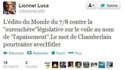 Laïcité: le député UMP Lionnel Luca évoque Chamberlain et