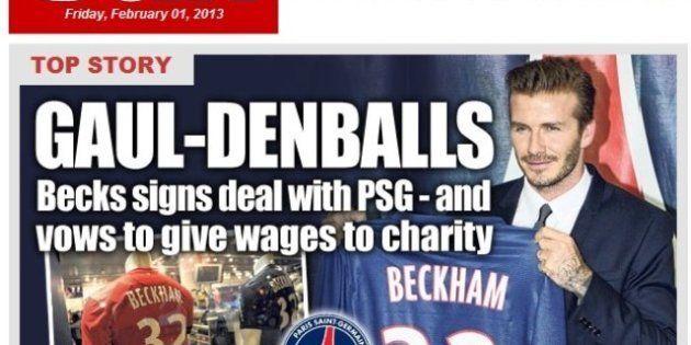 PHOTOS. Beckham à Paris : la presse britannique célèbre