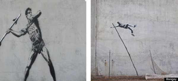 Banksy, le célèbre street artiste, laisse son empreinte dans les rues de Londres, avant le début des