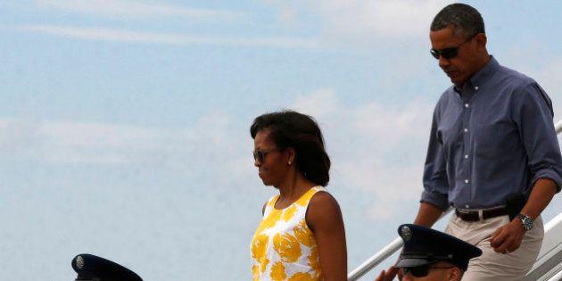 Obama entame ses vacances sur l'île huppée Martha's
