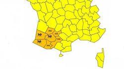Sept départements du sud-ouest menacés