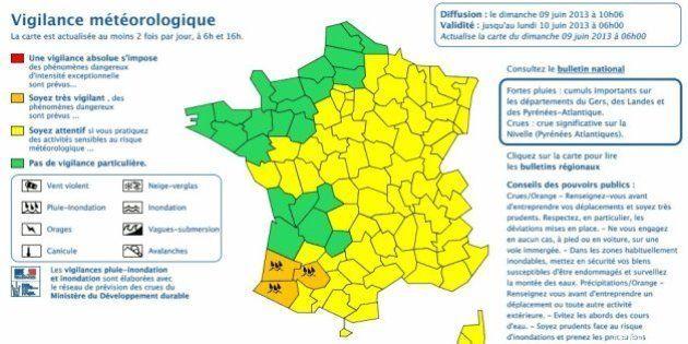 Pluie : Plus que trois département du Sud-Ouest en vigilance