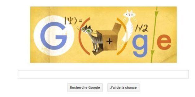 Google doodle: le chat de Schrödinger met la physique quantique à