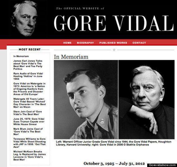 Gore Vidal est mort, le romancier américain s'est éteint à 86