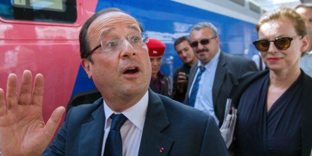 PHOTOS. François Hollande et Valérie Trierweiler partent en vacances à Brégançon en