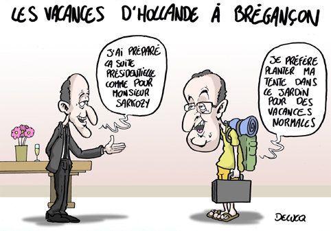 Même en vacances, Hollande veut être