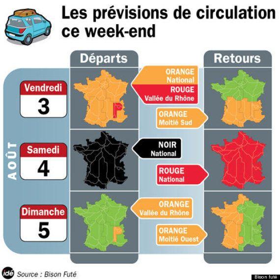 Le week-end le plus chargé de l'année sur les routes de France selon Bison