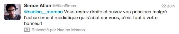 Nadine Morano sur Twitter: son dur combat contre les