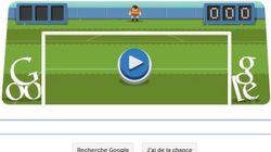 Le football célébré par le doodle de
