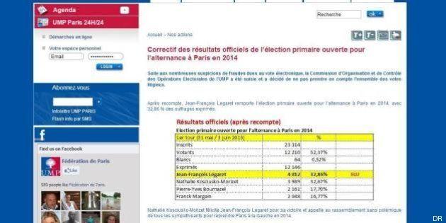 Primaire à Paris: le site de la fédération UMP piraté, Jean-François Legaret annoncé