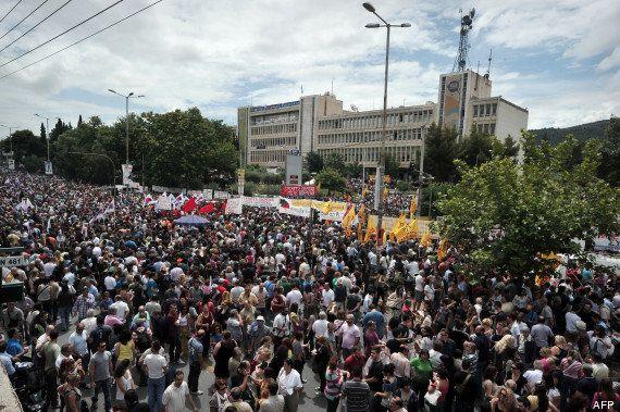 Grèce: grève et résistance après la fermeture de la télévision publique
