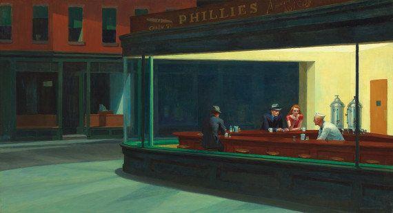 Les Noctambules d'Edward Hopper reconstitué grandeur nature à New