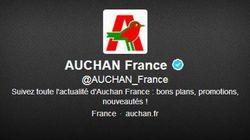 Le compte Twitter d'Auchan