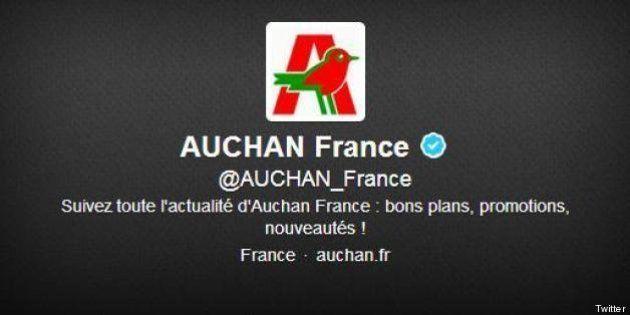 Le compte Twitter des supermarchés Auchan
