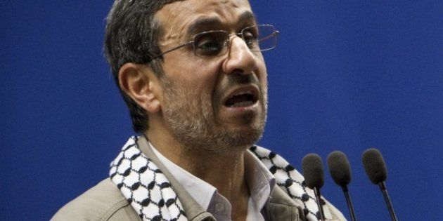 Le président iranien Mahmoud Ahmadinejad annonce la disparition d'Israël,