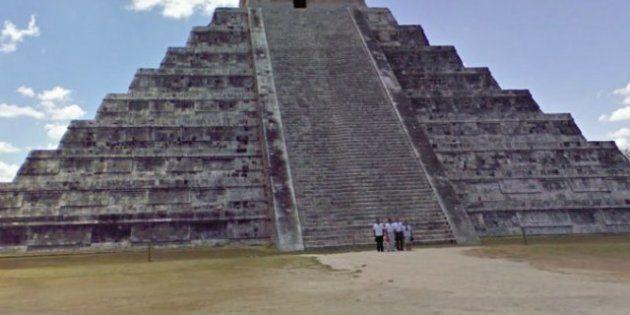 Google: Les photos panoramiques des pyramides mexicaines sur Google street