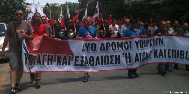 Fermeture de la TV publique grecque ERT : reportage dans les manifs à