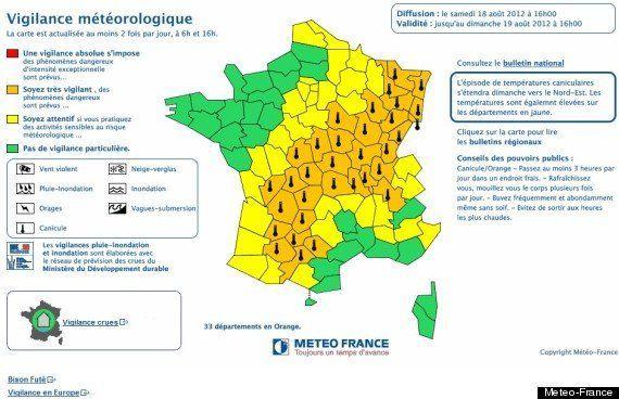 Canicule: 33 départements en vigilance orange ce
