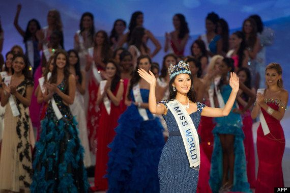 PHOTOS. Miss Monde 2012, Yu Wenxia, vient de
