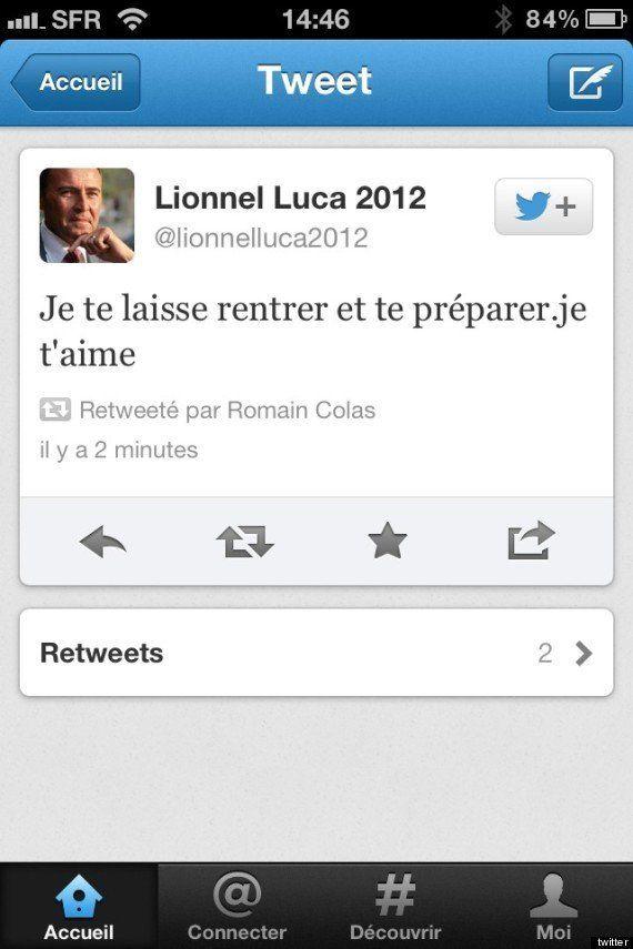 TWEETS. Lionnel Luca publie un message privé sur Twitter, un DM fail à la Eric