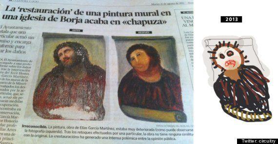 En Espagne, la restauration d'une peinture du Christ fait