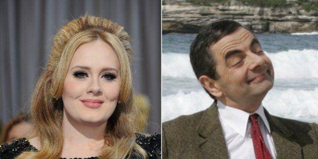 Adele et Mr Bean décorés par la reine Elizabeth