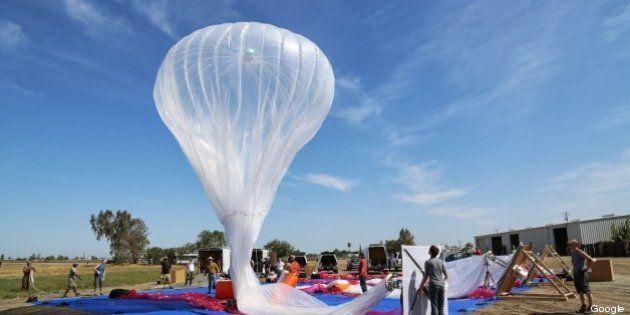 Loon: Google expérimente un accès internet via des ballons dans la