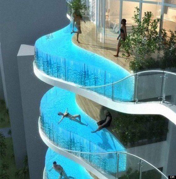 PHOTOS. À Lima (Pérou), des piscines suspendues au-dessus du