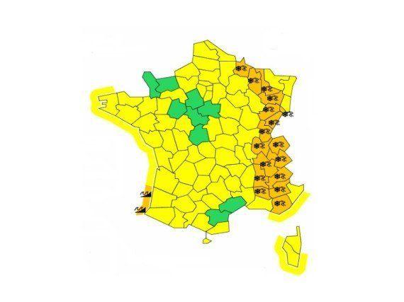 Neige: 17 départements placés en vigilance orange jusqu'à mardi