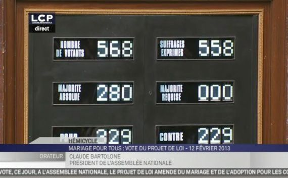 Mariage gay: l'Assemblée a adopté le texte, place au