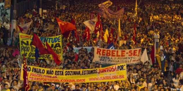 Manifestations au Brésil: la plus grande mobilisation des 20 dernières années contre la vie chère et...