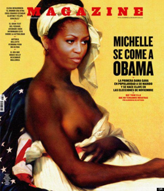 Michelle Obama en une d'un magazine espagnol en esclave